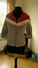 Mckenzie red grey hooded zipped top size 10 female, sports, gym, fitness, casual