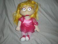 "1999 Mattel Rugrats Angelica Doll Plush Stuffed Ballerina Toy 12"""
