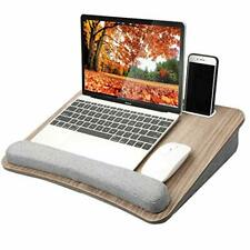 HUANUO Lap Laptop Desk - Portable Lap Desk with Pillow Cushion, Fits up to 15.6