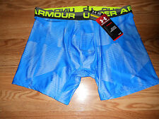NWT Men's Large Under Armour Lt BLue Camo  Fitted Shorts 1242916