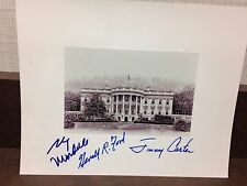 GERALD FORD JIMMY CARTER FULL SIGNATURE MONDALE 8x10 PHOTO SIGNED  AUTHENTIC