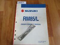 2005 SUZUKI RM85 / L Owner Owners Owner's Service Manual