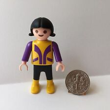 Playmobil Child Girl Purple Yellow 3775 Pony Ranch Stable Farm Mansion Dollhouse