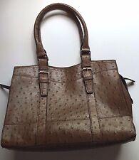 Bueno Brown Women's Purse Handbag Shoulder Bag Faux Animal Print NICE!