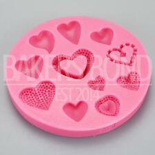 Multi 11 forma a cuore stampo in silicone ROMANTIC WEDDING TORTA CIOCCOLATO glassa di cottura
