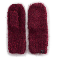 Women's Cuddl Duds Plush Speckled Knit Mittens Colors: Grey, Ivory, Burgundy