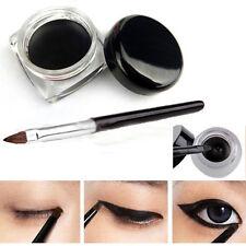 Cosmetic Waterproof Black Color Eye Liner Eyeliner Shadow Gel Makeup & Brush