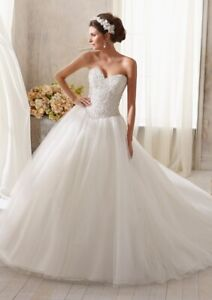 Mori Lee 5216 Size 14 GENUINE Wedding Dress Ivory New With tags