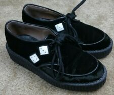 Womens TUK Platform Shoes Hi Sole Craps, Dice Black Suede US 5 UK 4