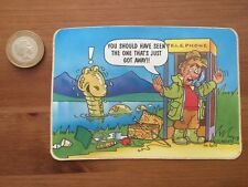 "Fun Travel Postcard Stickers Vinyl 1980's ""Fishermans The One That Got Away"""