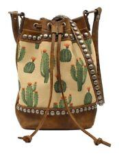 Blazin Roxx Western Handbag Womens Cactus Bucket Brown N770004402
