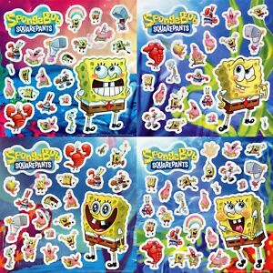 84 x Spongebob Squarepants Stickers - Kids Party Bags - Nickelodeon Collection
