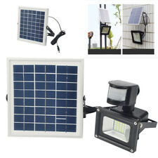 10W Solar LED Fluter+Bewegungsmelder/AKKU Kaltweiß Außen Wand Solar Leuchte Lamp