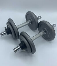Barbell Weights Set 15 LB Pound Each - 30 LB Pound Total With Adjustable Bars