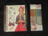 JOJO BOW - Lockable Diary & Glitter Gel Pens  BRAND NEW JoJo Siwa AUTHENTIC