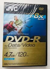 JVC Recordable New/Sealed DVD+R(2 HOURS) 1-8X Data/Video Single Sided New