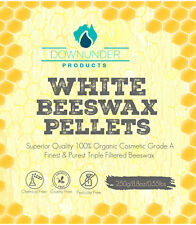 PURE White Organic Beeswax Pellets 250g Grade A -3 x  Filtered Superior Quality