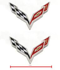 "Corvette Racing Team Super Sports Logo 2-Patch Set: CORVETTE RACING C-7 2"" small"