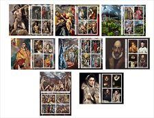 2011 EL GRECO PAINTINGS ART 8 SOUVENIR SHEETS MNH UNPERFORATED