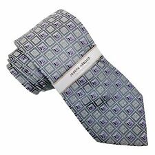 Joseph Abboud Componets GRAY & PURPLE Geometric 100% SILK Neck Tie ~ NEW w/ TAGS