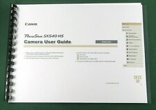 Canon PowerShot SX540 HS Instruction Manual: Full Color & Protective Covers!