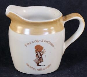 """1978HOLLY HOBBIE Earthenware Creamer Pitcher """"Country Living"""" Republic Of China"""