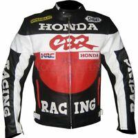 New Honda 1.3mm Leather Jacket Motorcycle Motorbike Biker Customized Racing