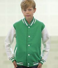 KIDS VARSITY JACKET - COLLEGE SCHOOL - 10 COLOURS - AGES 3-13