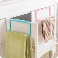Towel Rack Hanging Holder Organizer Bathroom Kitchen Cabinet Cupboard Hanger .