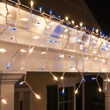 New 150 Ct Blue/White Fashion LED Icicle Christmas Lights Holiday Time