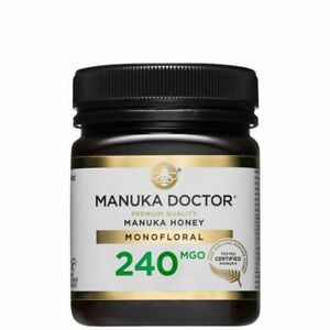 Manuka Doctor 240 MGO Honey MONOFLORAL 250g 100% Pure New Zealand Certified