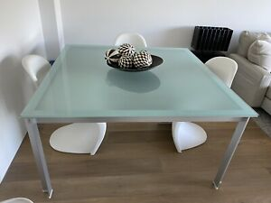 B&B Italia Designer Glass Dining Table (paid $8,995!)