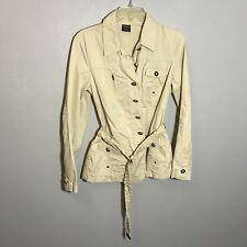 TRIBAL Sand Colored Lite Belted Jacket Coat Size 4 Tan