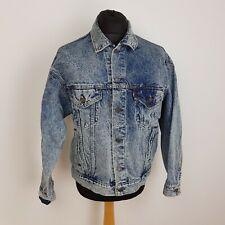 Levis Mens Denim Jacket Size Large Trucker Style Stonewash Blue 70507 Vintage