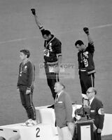 TOMMIE SMITH AND JOHN CARLOS GIVE BLACK POWER SALUTE OLYMPICS 8X10 PHOTO (DD363)