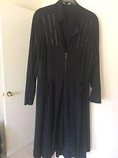 Sunlight Womens Black Lightweight Coat Size 3 Or L/XL