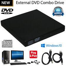New External DVD Drive USB 2.0 Slim CD RW DVD ROM CD Rewriter For All laptop,MAC