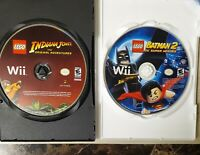 2 Game Lot - LEGO Batman 2 DC Super Hero & LEGO Indiana Jones - Nintendo Wii