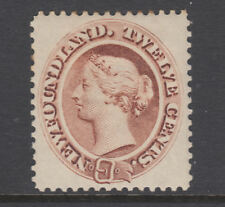 Newfoundland Sc 29 MLH. 1894 12c brown Queen Victoria, few toned perf tips