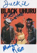 "Michael Rose & Duckie Simpson ""Black Uhuru"" Autogramme signed 13x18 cm Bild"