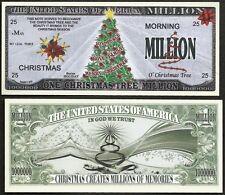 Lot of 100 BILLS- CHRISTMAS TREE MILLION NOVELTY JOY, PEACE, LOVE, FAMILY DOLLAR