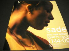 SADE The New Album is LOVERS ROCK on 11-14-2000 original PROMO POSTER AD