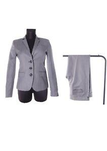 Women's J. Crew Grey Cashmere Wool City Fit Trouser Suit Size 2 / 0
