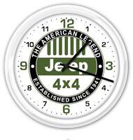 Jeep Wall Clock - 4x4 Wrangler Rubicon - Garage Man Cave - GREAT GIFT