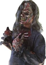 Mens Zombie Costume Complete Adult Zombie Skeleton Halloween Fancy Dress Costume