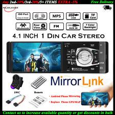4.1'' Single 1 Din Coche MP5 Player In-Dash FM Bluetooth Radio Audio Estéreo MP3