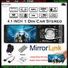 4.1'' Single 1 Din Coche MP5 Player In-Dash FM Bluetooth Radio Audio Estéreo MP3