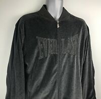VTG EVERLAST Workout Jacket Mens Full Zip Black Size Large Boxing RN#85984