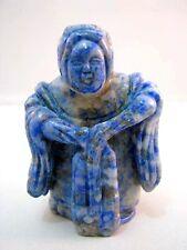 Netsuke Lapislazuli China Figur Lapis Lazuli Chinese Figure Figurine - 4