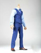 "1/6 Scale Male Shirt Vest Trousers Tie Belt Suit for 12"" Hot Toys Action Figures"